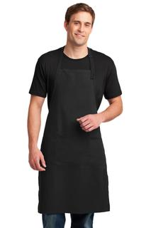 Port Authority® Easy Care Extra Long Bib Apron with Stain Release.-Port Authority