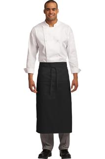 Port Authority® Easy Care Full Bistro Apron with Stain Release.-Port Authority