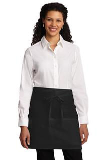 Port Authority Easy Care Half Bistro Apron with Stain Release.-