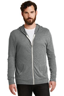 Alternative Apparel Hospitality Sweatshirts & Fleece Alternative Eco-Jersey Zip Hoodie.-Alternative Apparel