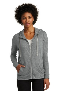 Alternative Womens Eco-Jersey Cool-Down Zip Hoodie.-