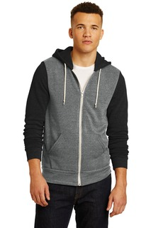 Alternative Colorblock Rocky Eco-Fleece Zip Hoodie.-Alternative Apparel