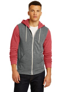 Alternative® Colorblock Rocky Eco-Fleece Zip Hoodie.