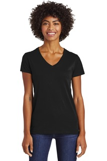 Alternative Womens Runaway Blended Jersey V-Neck Tee.-