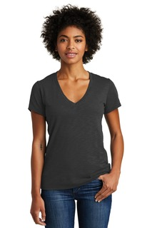 Alternative Womens Weathered Slub So-Low V-Neck Tee.-