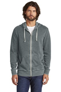 Alternative Burnout Laid-Back Zip Hoodie.-