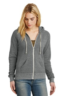 Alternative Womens Adrian Eco -Fleece Zip Hoodie.-Alternative Apparel