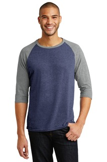DISCONTINUED Anvil Tri-Blend 3/4-Sleeve Raglan Tee.-