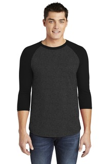 American Apparel Poly-Cotton 3/4-Sleeve Raglan T-Shirt.-