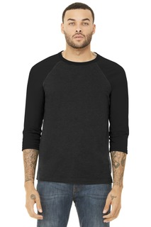 BELLA+CANVAS ® Unisex 3/4-Sleeve Baseball Tee.-