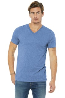 BELLA+CANVAS Unisex Triblend Short Sleeve V-Neck Te.-