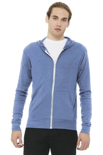 BELLA+CANVAS ® Unisex Triblend Full-Zip Lightweight Hoodie.-Bella + Canvas