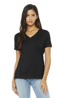 BELLA+CANVAS Relaxed Jersey Short Sleeve V-Neck Tee.-