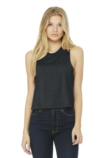 BELLA+CANVAS Racerback Cropped Tank.-