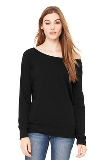 BELLA+CANVAS ® Womens Sponge Fleece Wide-Neck Sweatshirt.-