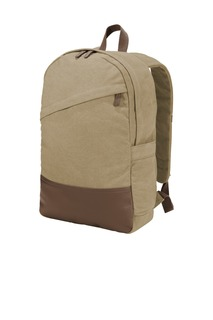 Port Authority Hospitality Bags ® Cotton Canvas Backpack.-Port Authority