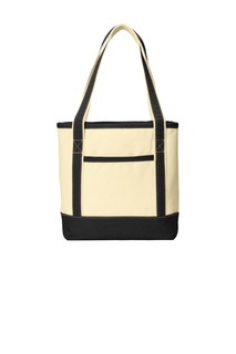 Port Authority® Medium Cotton Canvas Boat Tote.-Port Authority