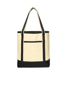 Port Authority® Large Cotton Canvas Boat Tote.-Port Authority