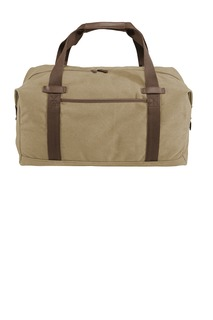 Port Authority ® Cotton Canvas Duffel.-Port Authority