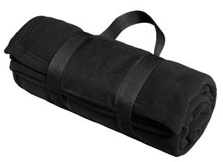 Port Authority® Fleece Blanket with Carrying Strap.-