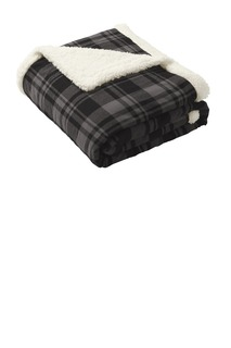 Port Authority ® Flannel Sherpa Blanket.-Port Authority