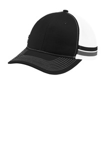 Port Authority ® Two-Stripe Snapback Trucker Cap.-Port Authority