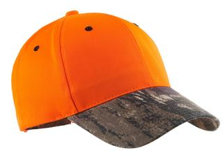 Port Authority® Enhanced Visibility Cap with Camo Brim.-Port Authority