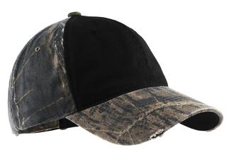 Port Authority® Camo Cap with Contrast Front Panel.-