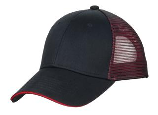 Port Authority® Double Mesh Snapback Sandwich Bill Cap.-