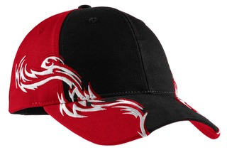 Port Authority® Colorblock Racing Cap with Flames.