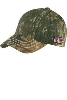 Port Authority® Americana Contrast Stitch Camouflage Cap.-Port & Company