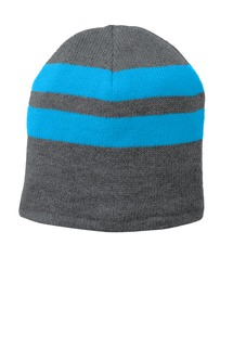 Port & Company® Fleece-Lined Striped Beanie Cap.-