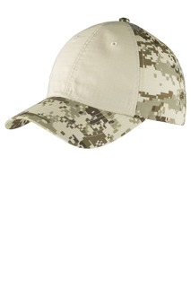 Port Authority® Colorblock Digital Ripstop Camouflage Cap.-