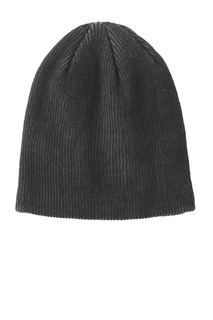 Port Authority Rib Knit Slouch Beanie.-