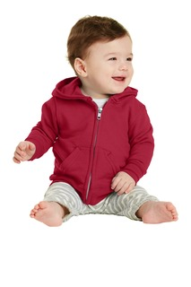 Port & Company® Infant Core Fleece Full-Zip Hooded Sweatshirt.-