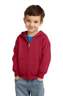 Port & Company Toddler Core Fleece Full-Zip Hooded Sweatshirt.-