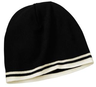 Port & Company® - Fine Knit Skull Cap with Stripes.-Port & Company