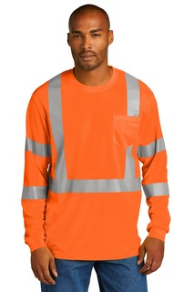 CornerStone ® ANSI 107 Class 3 Mesh Long Sleeve Tee.-CornerStone