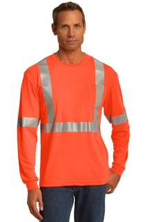 CornerStone® ANSI 107 Class 2 Long Sleeve Safety T-Shirt.-