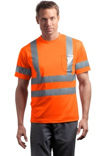 CornerStone® - ANSI 107 Class 3 Short Sleeve Snag-Resistant Reflective T-Shirt.-CornerStone