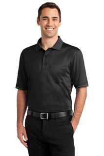 CornerStone® Select Snag-Proof Tipped Pocket Polo.-