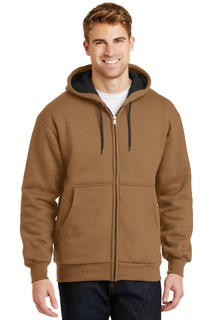 CornerStone® - Heavyweight Full-Zip Hooded Sweatshirt with Thermal Lining.-