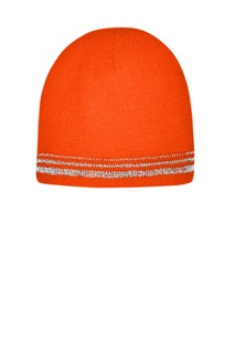 CornerStone Lined Enhanced Visibility with Reflective Stripes Beanie-CornerStone