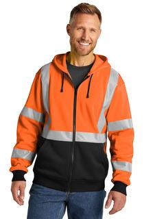 CornerStone A107 Class 3 Heavy-Duty Fleece Full-Zip Hoodie-