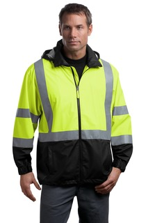 CornerStone - ANSI 107 Class 3 Safety Windbreaker.-CornerStone