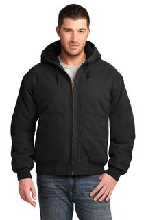 CornerStone® Washed Duck Cloth Insulated Hooded Work Jacket.-CornerStone