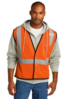 CornerStone ® ANSI 107 Class 2 Economy Mesh One-Pocket Vest.-CornerStone