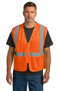 CornerStone ANSI 107 Class 2 Economy Mesh Zippered Vest.-CornerStone