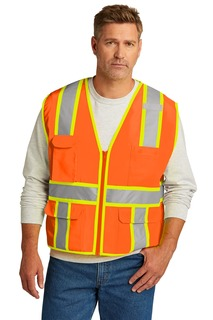 CornerStone ® ANSI 107 Class 2 Surveyor Zippered Two-Tone Vest.-CornerStone