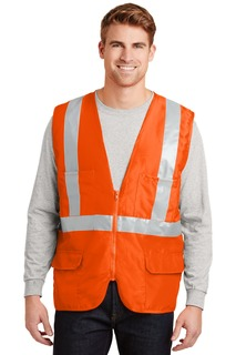 CornerStone® - ANSI 107 Class 2 Mesh Back Safety Vest.-CornerStone